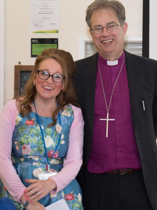 Bishop Steven with Karen Collett 01