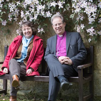 Bishop Steven with Rev Margot Hodson 03