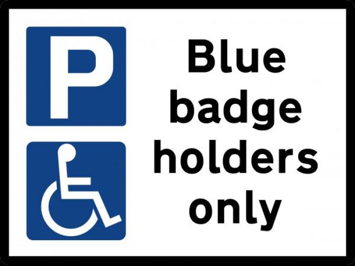 Blue Badge Notice