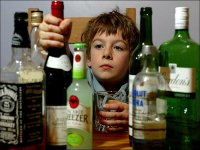 Child with alcohol