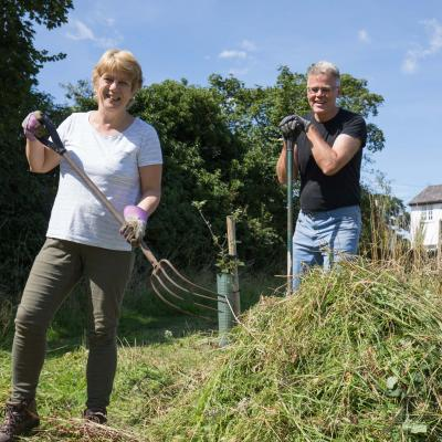 Community Orchard Hay Making 01