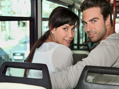 Couple on a Bus