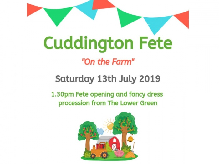 Cuddington Fete Poster 2019