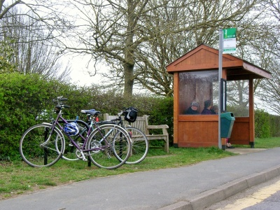 Cycle stands at Woodways bus stop