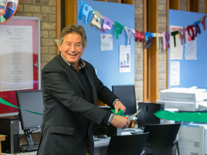 David Truesdale opens Children's Area