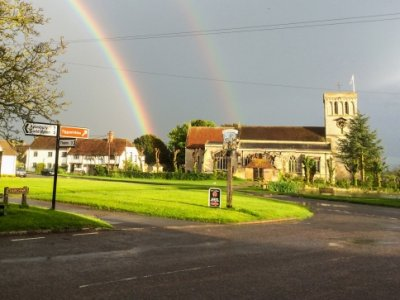 Double Rainbow St Mary's Church
