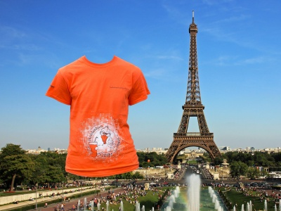 Eiffel Tower with T-shirt