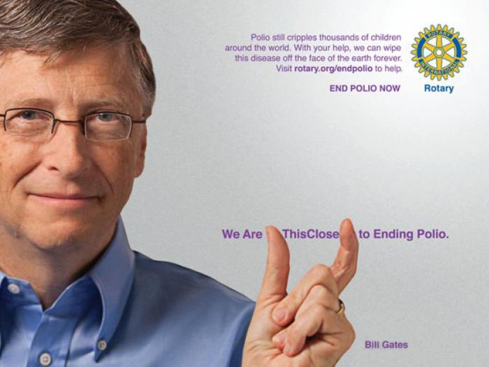 End Polio Now_Bill Gates Poster