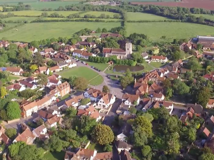 Flying Overview of Village
