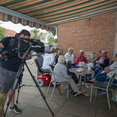 Haddenham Residents filmed by BBC South