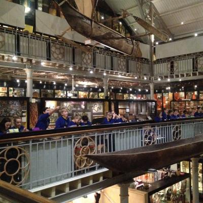HCJS pupils at Pitt Rivers Museum, Oxford