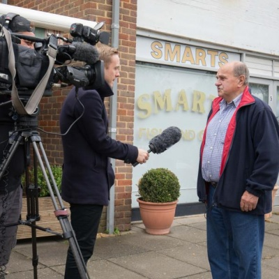 Haddenham resident interviewed by BBC South