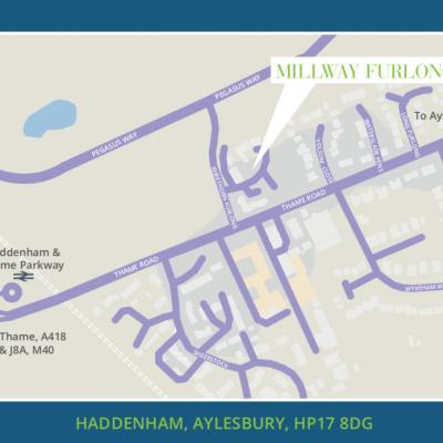 Millway Furlong Location Map