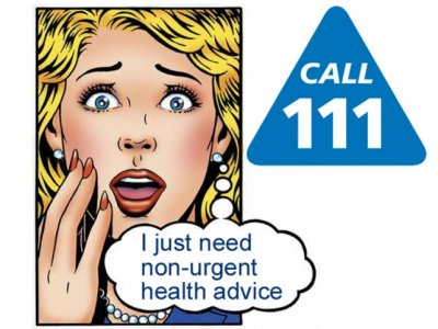 NHS 111 Number Cartoon