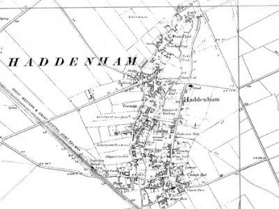 Old Map of Haddm