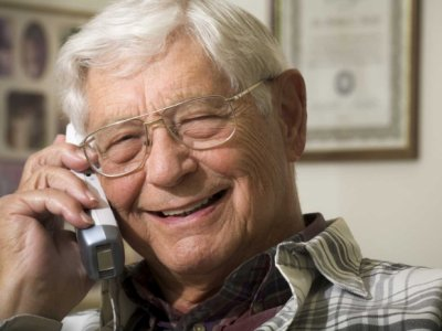 Older person on telephone 01