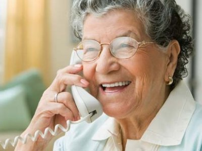 Older person on telephone 02
