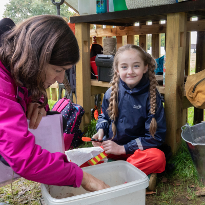 Outdoor learning in the Forest School