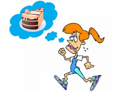 Running Woman_Thinking of Cake