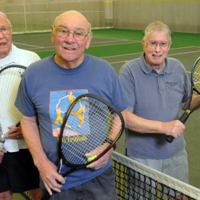 Seniors Playing Tennis