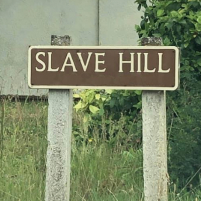 Slave Hill Road Sign