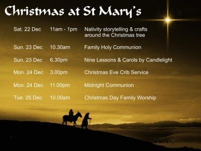 St Mary's Xmas Schedule 2012
