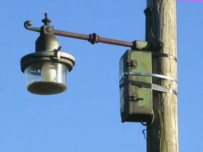 Telegraph Pole with Light 01