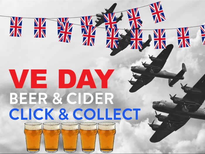 VE DAY Type Lancaster Bunting_with Beer