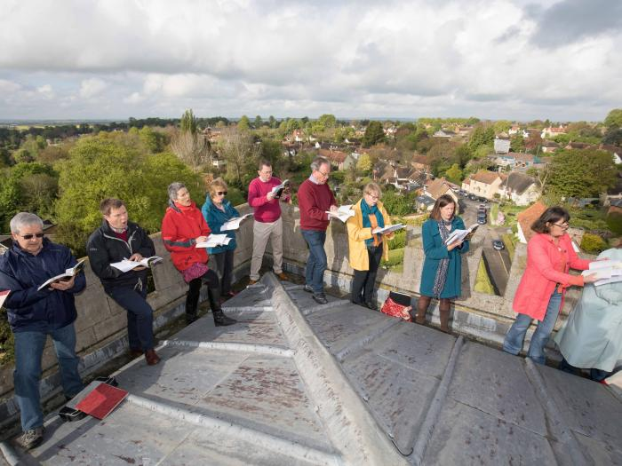 Witchert Chorale atop Long Crendon Church Tower