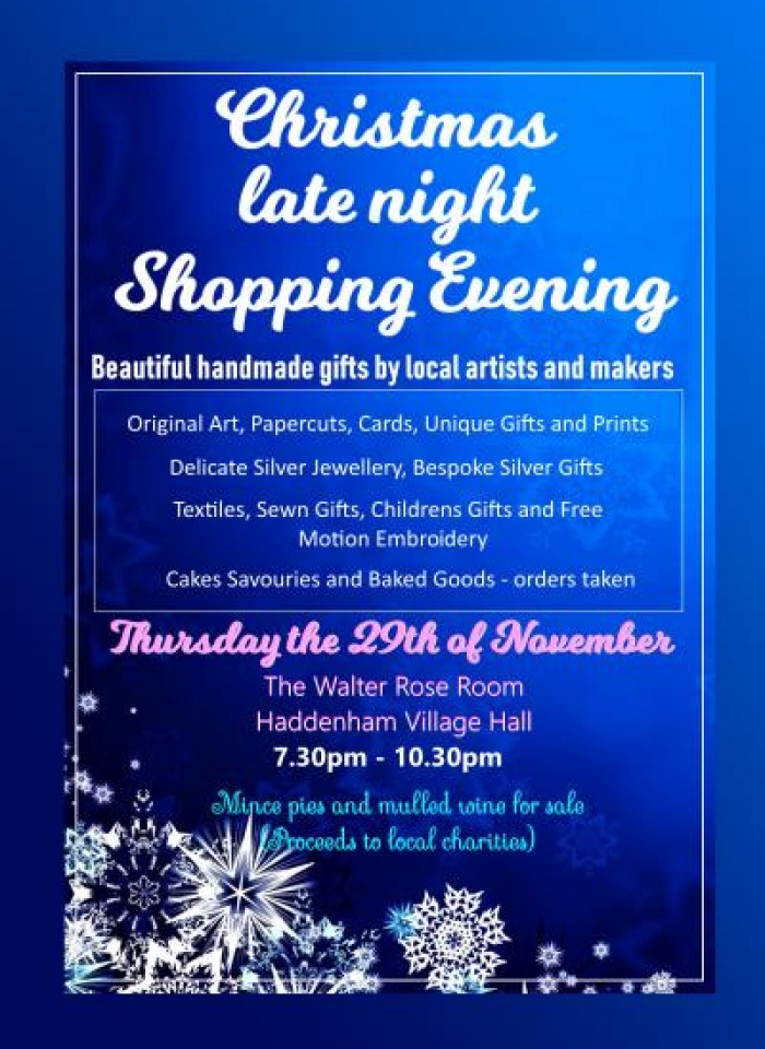 Xmas Shopping Evening_poster